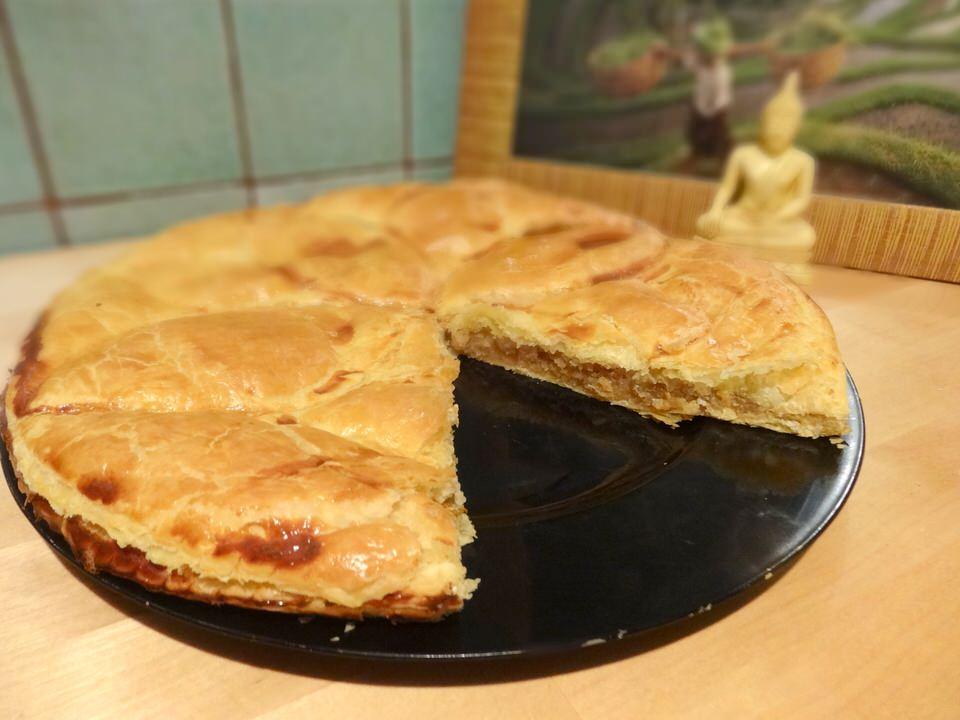 Recette galette des rois frangipane pomme caramel
