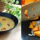Soupe velouté Potiron/coco/curry et crevettes !!
