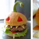Burger Halloween aux poivrons grillés