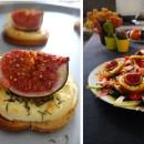 Salade au Jambon Serrano et tartines de figues chèvre et miel
