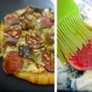 Pizza aux figues et fourme d'Ambert