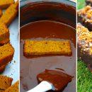 barres gourmandes – cake caramel vanille glaçage chocolat